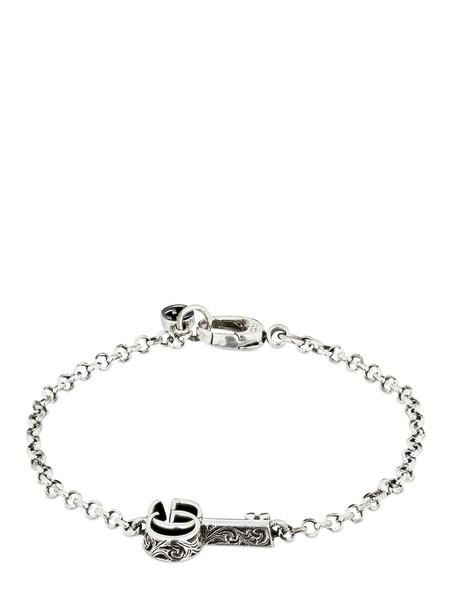 GUCCI Gg Marmont Key Bracelet in silver