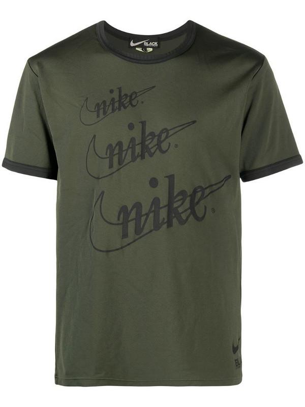 Black Comme Des Garçons logo print t-shirt