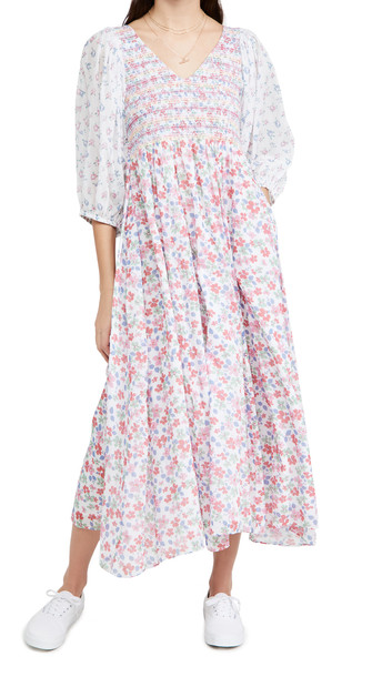 LOVESHACKFANCY Analia Dress in cream / multi