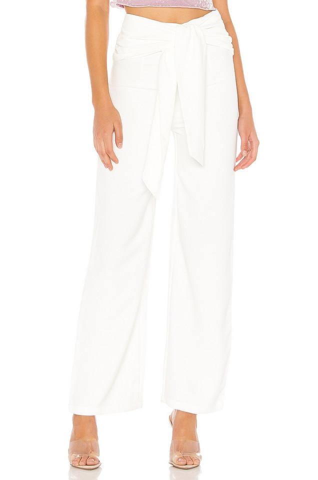 superdown Jordayn Tie Waist Pants in white