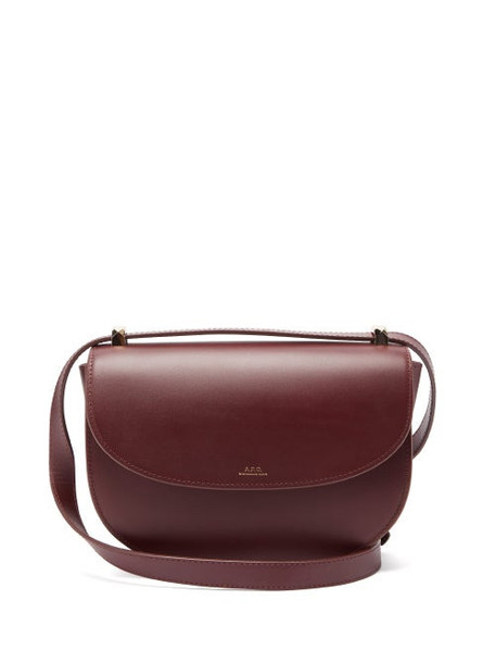 A.P.C. A.P.C. - Genève Leather Cross-body Bag - Womens - Burgundy
