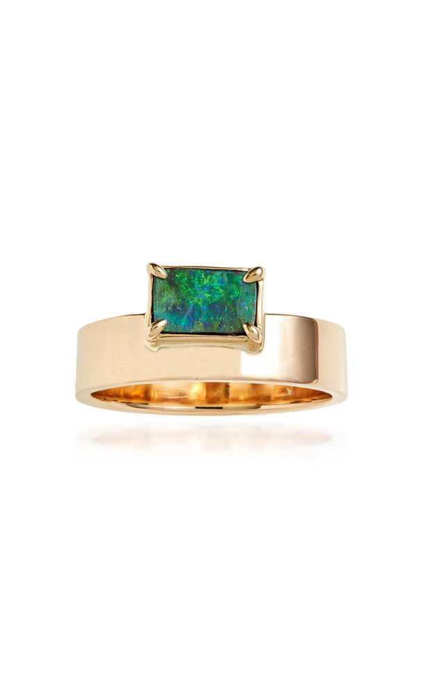 WWAKE One-Of-A-Kind Gold And Opal Ring in green