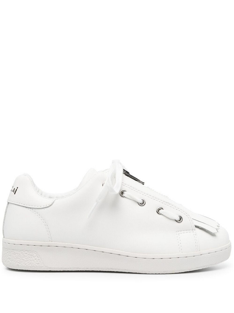 A.P.C. A.P.C. tassel-front leather trainers - White