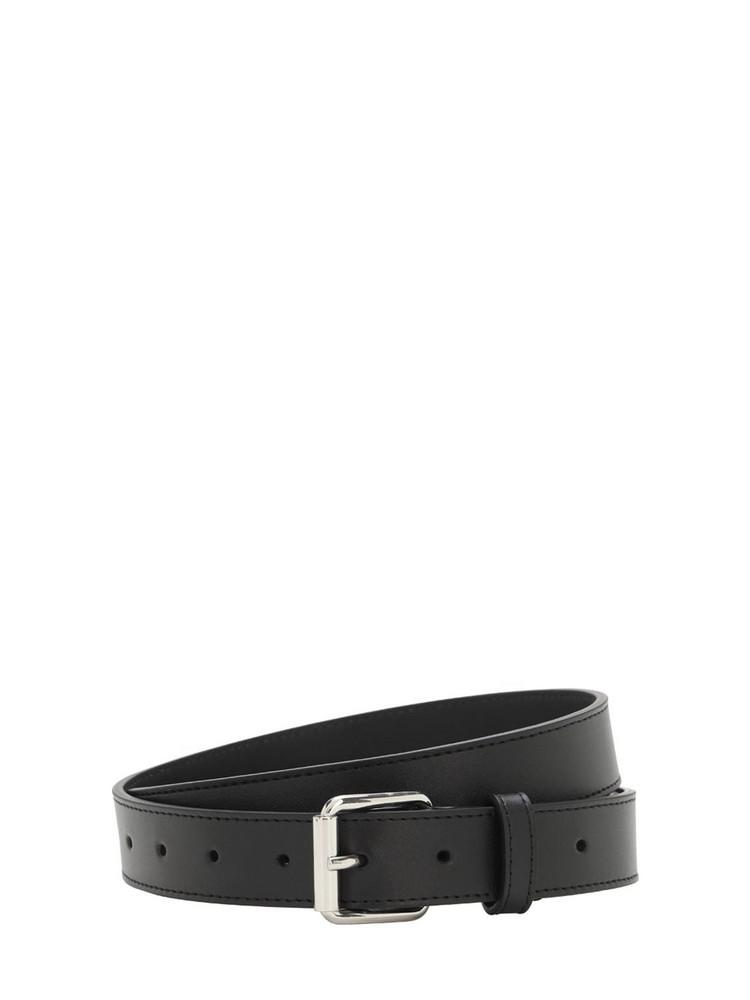 COMME DES GARÇONS WALLET 30mm Classic Leather Belt in black