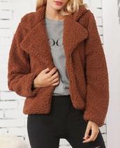 jacket,girly,girl,girly wishlist,brown,teddy bear coat,teddy jacket,cute,comfy,trendy