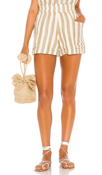 Show Me Your Mumu Disilvio Shorts in Tan,Cream in khaki