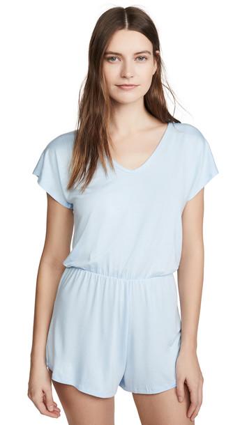 Hanky Panky Logo To Go T-Shirt Romper in blue