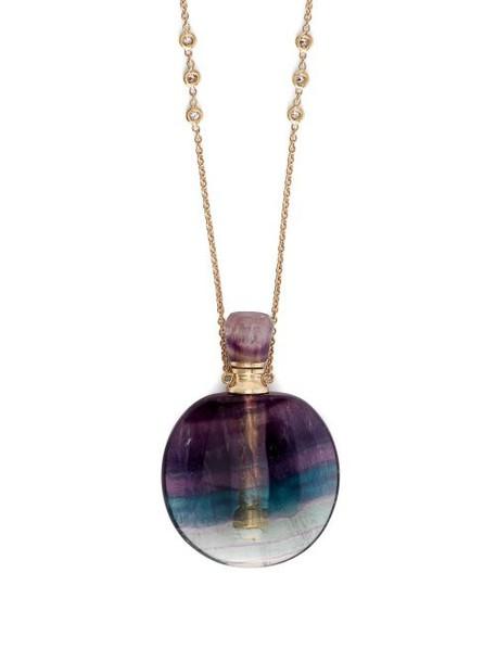 Jacquie Aiche - Diamond & Fluorite Necklace - Womens - Purple