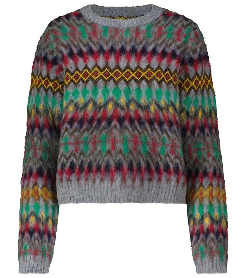 Maison Margiela Patterned wool sweater in grey