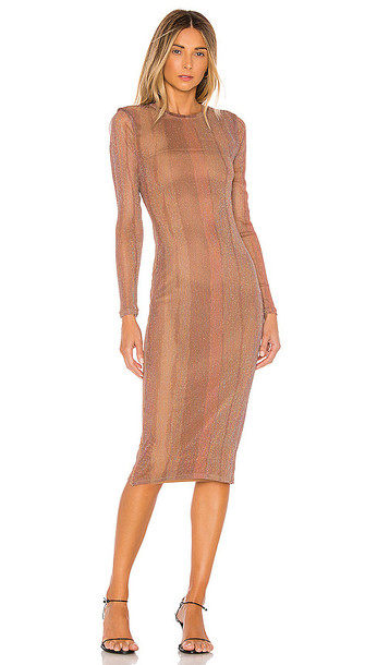 MAJORELLE Weston Midi Dress in Brown