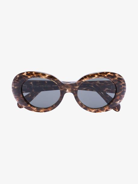 Acne Studios brown Mustang leopard print sunglasses