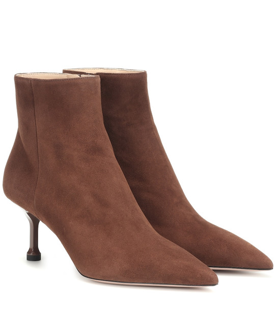 Prada Suede ankle boots in brown