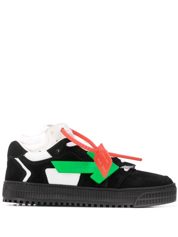 Off-White Arrows logo mid-top sneakers in black