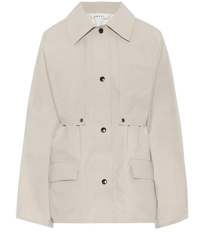 KASSL Editions Cape coated cotton jacket in neutrals