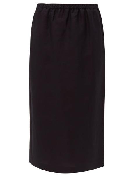 Raey - Elasticated Waist Midi Skirt - Womens - Navy