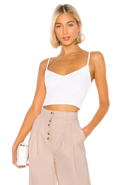 Privacy Please Carlsbad Top in white
