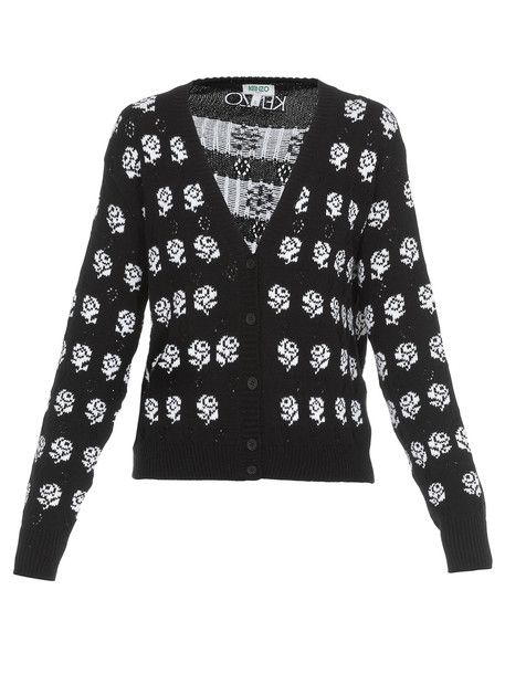 Kenzo Knitted Cardigan in black