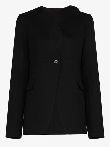 Jil Sander Mercury keyhole front blazer in black
