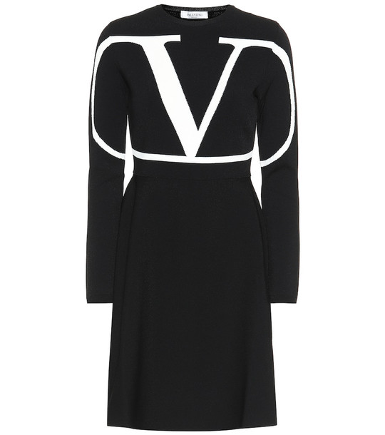 Valentino VLOGO jersey dress in black