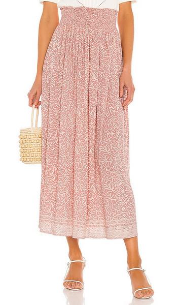 Natalie Martin Bella Skirt in Pink in coral / blush