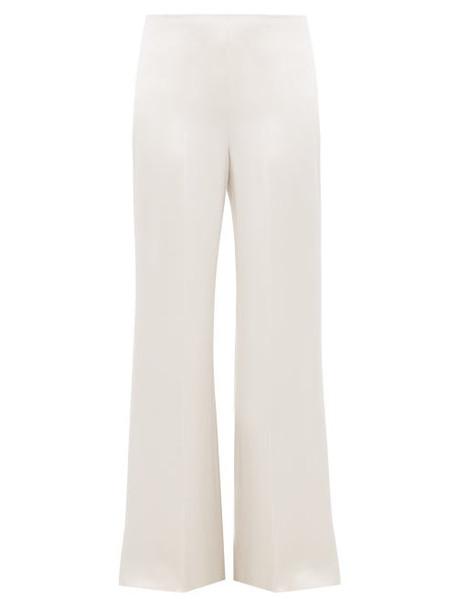 Joseph - Devyn Silk Satin Trousers - Womens - Silver