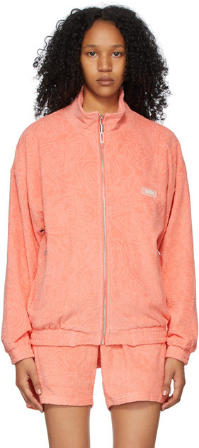 032c Pink Terrycloth Topos Sweater in coral