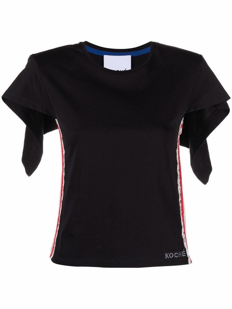Koché Koché lace-trim blouse - Black