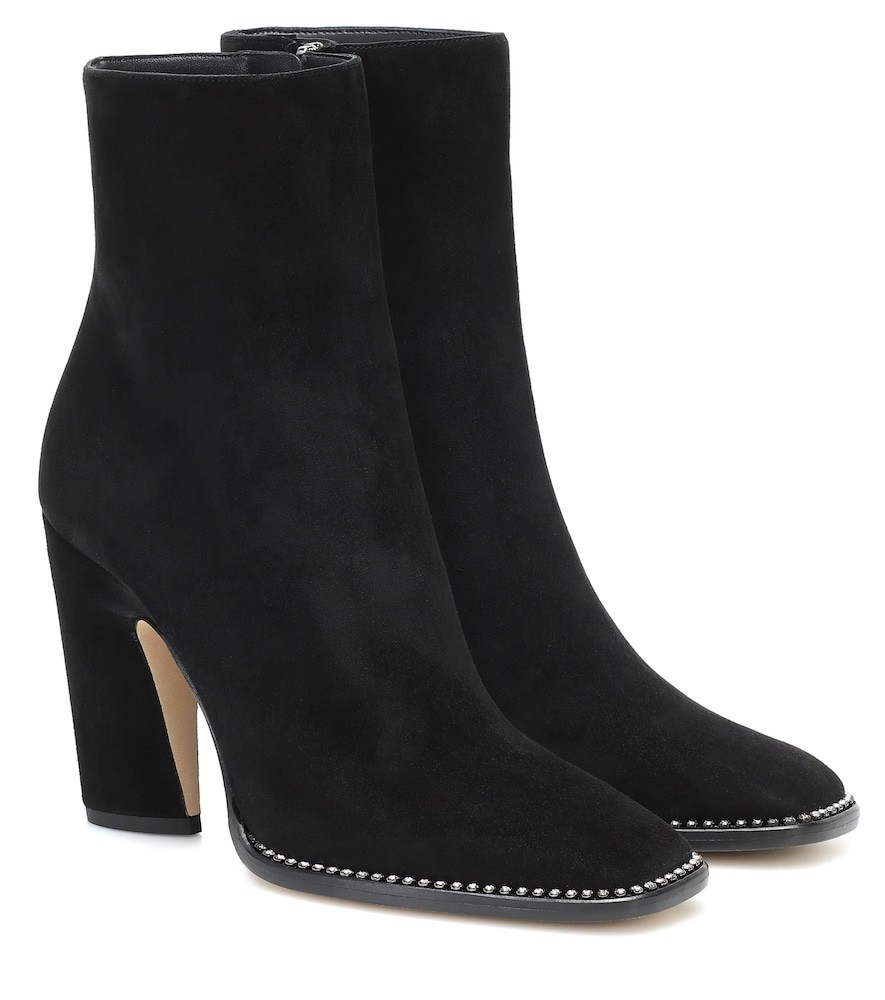 Jimmy Choo Mavin 100 suede ankle boots in black