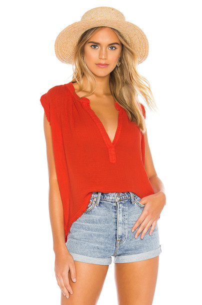 9 Seed Idyllwild Sleeveless Top in red