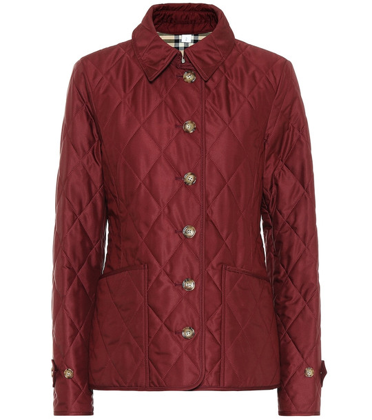 Burberry Fernleigh quilted jacket in red