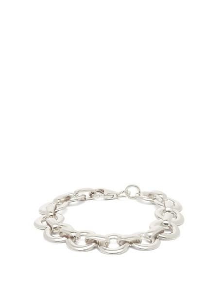 Alta Ora - Circle Drop Sterling Silver Chain Bracelet - Womens - Silver