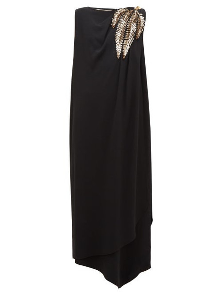 Gucci - Sequinned-shoulder Cady Gown - Womens - Black