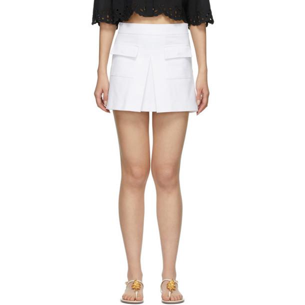 RED Valentino White Front Skirt Shorts