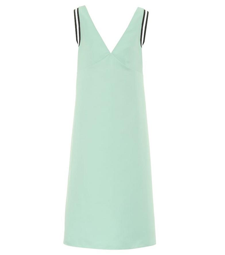 Plan C Sleeveless cady midi dress in turquoise