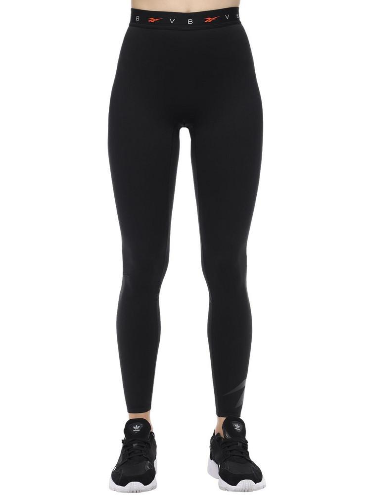 REEBOK X VICTORIA BECKHAM Logo Elastic Leggings in black