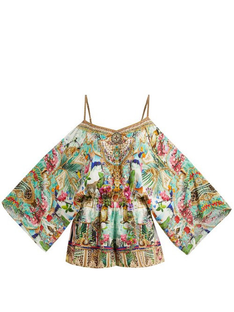 Camilla - Champagne Coast Drop Shoulder Printed Playsuit - Womens - Multi