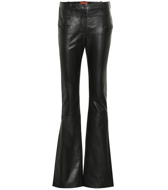 Altuzarra Serge mid-rise leather bootcut pants in black