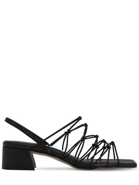 MIISTA 45mm Frida Elastic Sandals in black