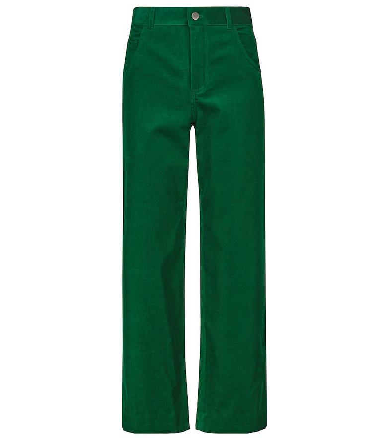 Loro Piana Stretch-cotton corduroy pants in green