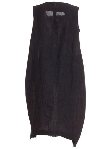 Stefano Mortari Flared Midi Dress in nero
