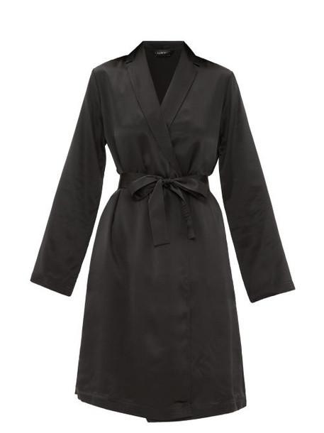 La Perla - Belted Short Silk Gown - Womens - Black