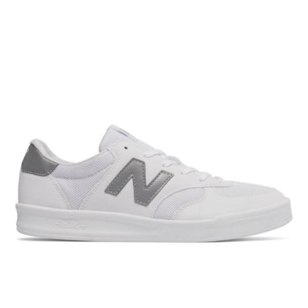 300 New Balance Men's Court Classics Shoes - White/Silver (CRT300GJ)