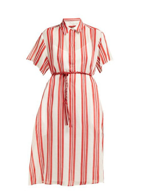 Max Mara Studio - Lama Dress - Womens - Red Stripe