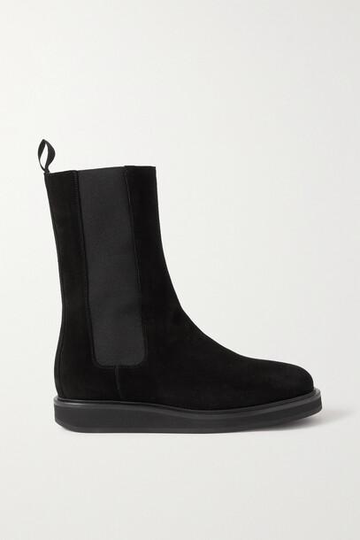 LEGRES - 18 Suede Chelsea Boots - Black
