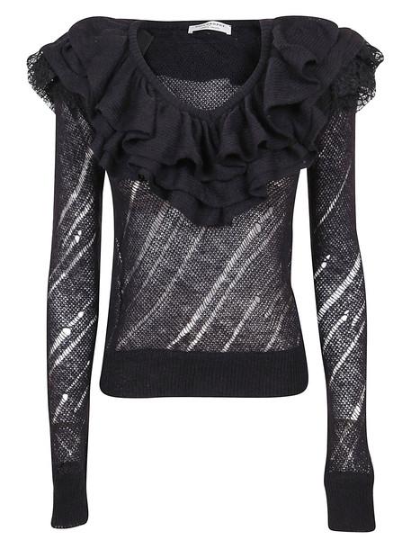 Philosophy di Lorenzo Serafini Black Technical Fabric Sweater