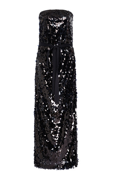 Rachel Comey Destra Sequined Midi-Dress Size: 4 in black