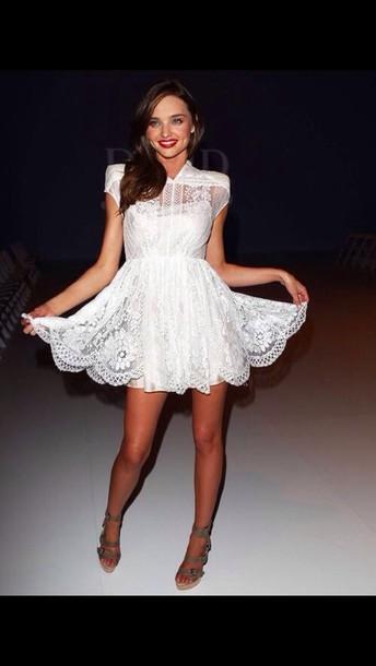 dress mirandakerr white gorgeous