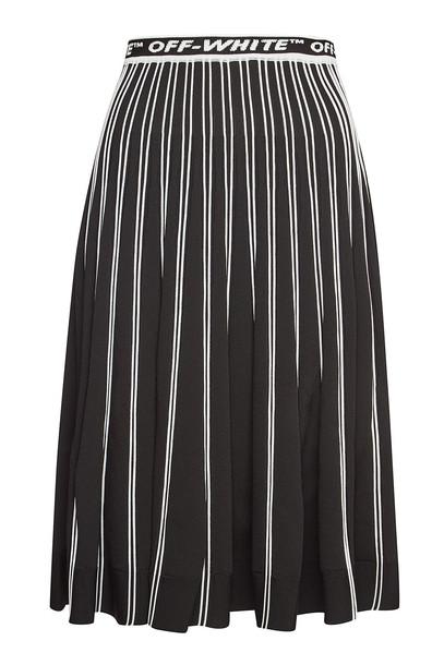 Off-White Knit Midi Skirt  in black