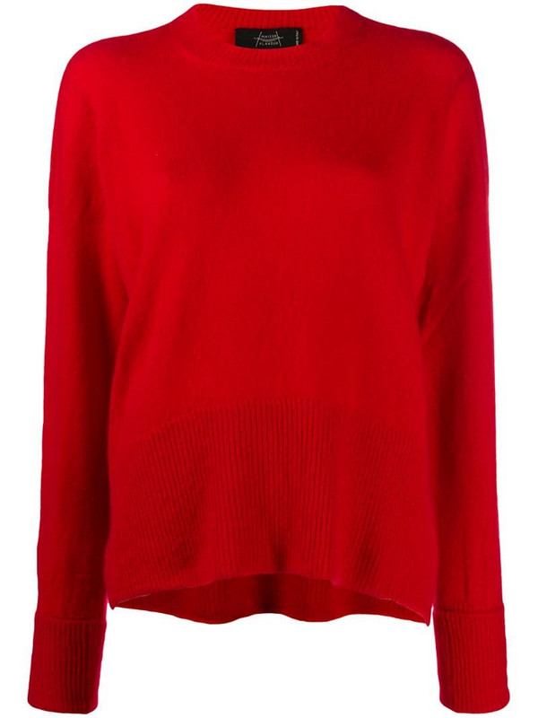 Maison Flaneur cashmere knitted jumper in red