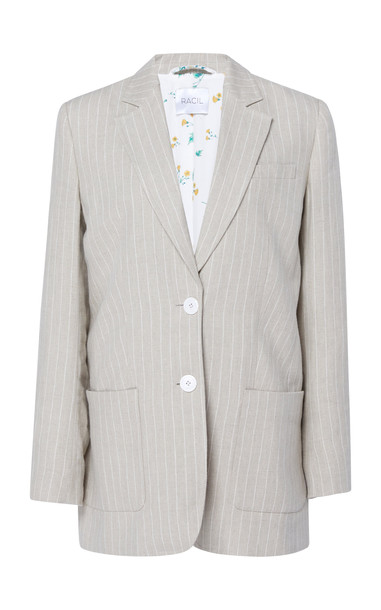Racil Alfie Stripe Linen Blazer Size: 40 in neutral